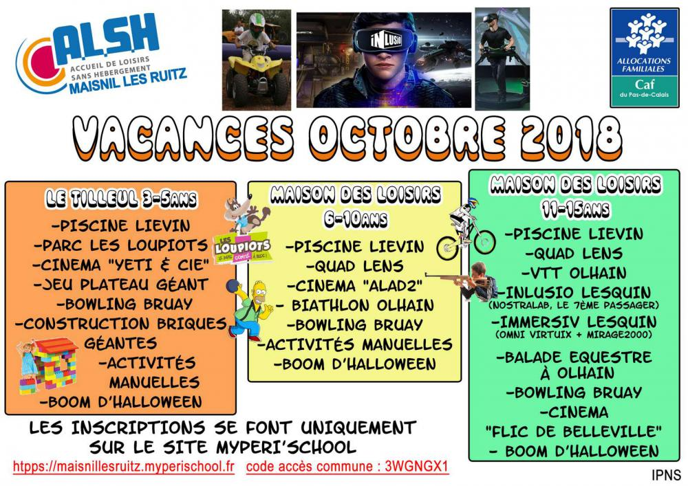 Extraordinaire Activités Manuelles Centre De Loisirs 6 10 Ans centre de loisirs octobre 2018 | maisnil-les-ruitz