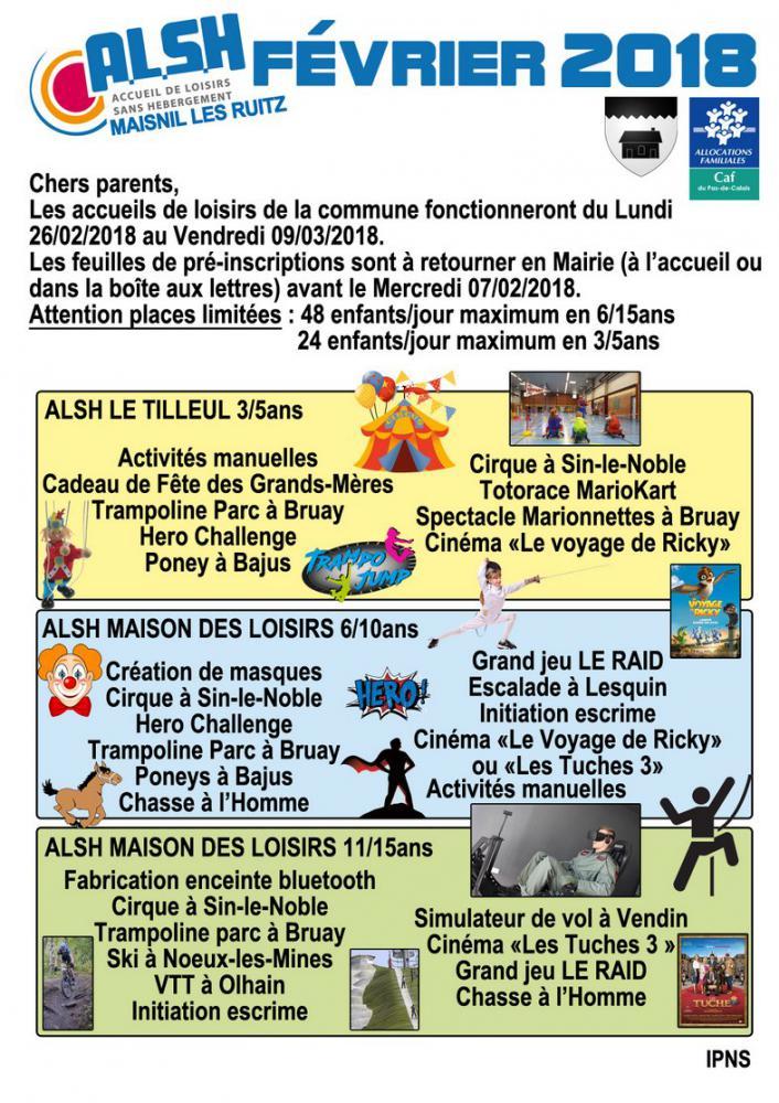 Activités Manuelles Centre De Loisirs 6 10 Ans accueils de loisirs fÉvrier 2018 | maisnil-les-ruitz